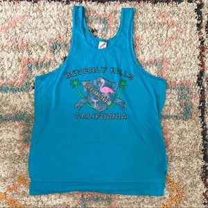 Vintage 80s Jerzees Beverly Hills Muscle Tee Tank